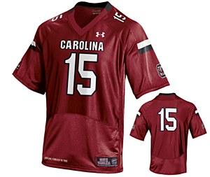 South Carolina Gamecocks #15 Garnet Jersey XL