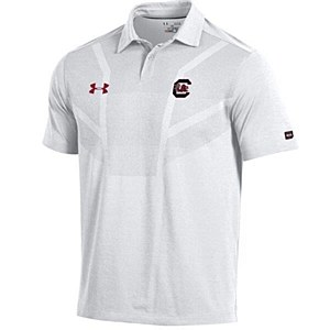 South Carolina Gamecocks 2017 Sideline Polo White Medium