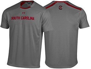 South Carolina Gamecocks 2014 Under Armour Sideline Graphite Sport Tee-SM