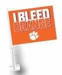 Clemson Tigers I Bleed Car Flag