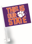Clemson Tigers Our State Car Flag