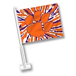 Clemson Tigers Tiedye Car Flag