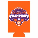 Clemson Tigers 2018 National Champs Energy Drink Koozie