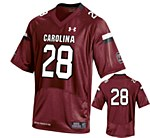 South Carolina Gamecocks #28 Mike Davis Garnet Jersey YSM