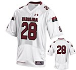 South Carolina Gamecocks #28 Mike Davis White Jersey Medium