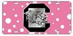 South Carolina Gamecocks Pink Dots Tag