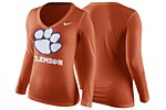 Clemson Tigers Ladies V-Neck Tee XS