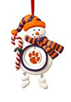 Clemson Tigers Snowman Ornament