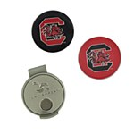 South Carolina Gamecocks Hat Clip & 2 Ball Marker Set