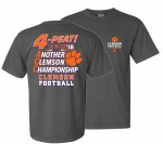 Clemson Tigers 2018 ACC 4Peat T-Shirt SMALL