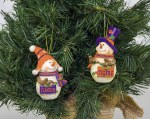 Clemson Tigers Resin Snowman Ornament