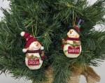 South Carolina Gamecocks Resin Snowman Ornament