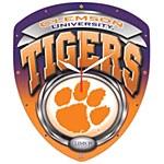 Clemson Tigers Diamond Shape Clock
