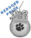 Clemson Pewter Ball Ornament