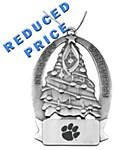 Clemson Pewter Tree Ornament