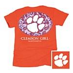Clemson Tigers Paisley Paw T-Shirt SM