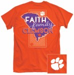 Clemson Tigers Faith, Family & Clemson T-Shirt SMALL