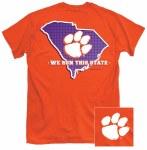 "Clemson Tigers ""We Run This State"" T-Shirt MEDIUM"