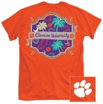 Clemson Tigers Pattern T-Shirt SMALL