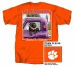Clemson Tigers Dog Truck T-Shirt MEDIUM