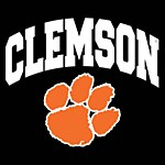 Clemson Tigers Arc Paw Decal
