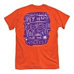 Clemson Tigers Heartbeat Chalkboard T-Shirt SMALL