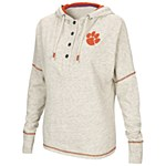 Clemson Tigers Ladies Henley Hoodie SMALL