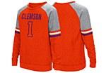Clemson Tigers Girls L/S Fleece Pullover YXS
