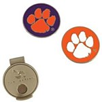 Clemson Tigers Hat Clip & 2 Ball Marker Set