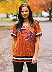 Clemson Tigers Oversized Ladies Jersey Top SM