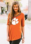 Clemson Tigers Ladies Half Sleeve Tee MD