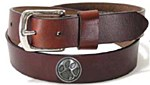 Clemson Leather Belt 36