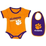 Clemson Tigers Junior Onesie and Bib Set 3-6MTH