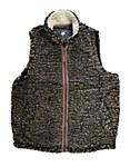 Charcoal Sherpa Pullover Fleece Vest MEDIUM