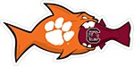 "Clemson Rival Fish 6"" Vinyl Decal"
