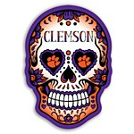 Clemson Tigers Skull Vinyl Decal