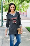 South Carolina Gamecocks Ladies Striped Tunic XS/SM