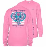 Simply Southern Elephant Youth Long Sleeve T-Shirt YS