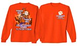 Clemson Tigers Born and Bred T-Shirt SM