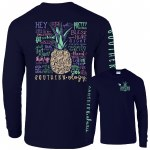 Southernology Pineapple Talk Southern Long Sleeve T-Shirt SMALL