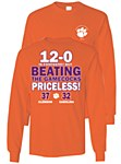 "Clemson Tigers ""Priceless"" 2015 Score Shirt 2X"