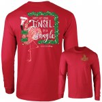 Southernology Tinsel In a Tangle Long Sleeve T-Shirt SMALL