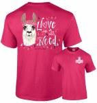Southernology Llove Llama T-Shirt YS