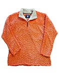 Orange Sherpa Pullover Fleece MEDIUM