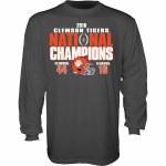 Clemson Tigers 2018 National Champs Long Sleeve Score Shirt SMALL