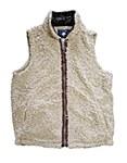 Oatmeal Sherpa Pullover Fleece Vest MEDIUM