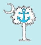 Palmetto Anchor Decal