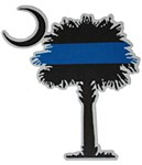 Palmetto Police Blue Line Decal