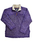 Purple Sherpa Pullover Fleece LARGE