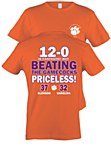 "Clemson Tigers ""Priceless"" 2015 Score Shirt XL"